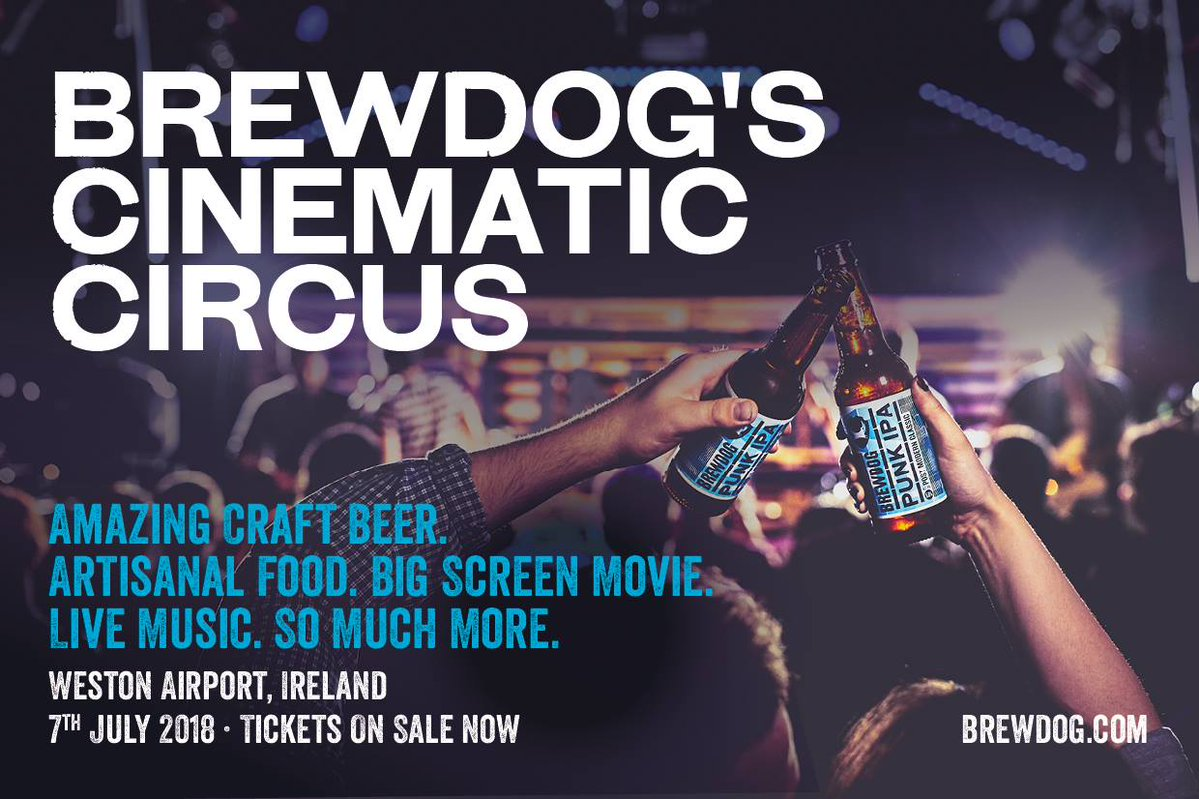 BrewDog's Cinematic Circus on the way to the Weston