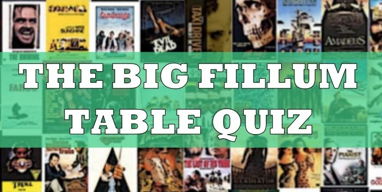 The Big Fillum Quiz takes place for film fans this Wednesday